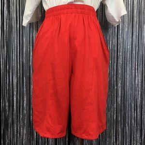 Vintage Bugle Boy Shorts Red High Rise Elastic S/M
